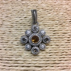 Judith Ripka Citrine Smoky Quartz Enhancer